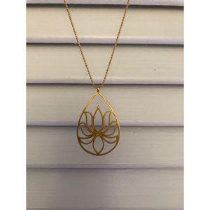 Satya teardrop lotus necklace.